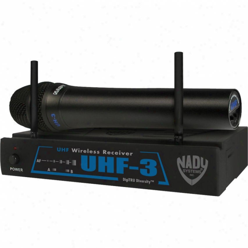 Nady Systems Uhf-3 Ht W/ Mu1 Single-channel Wireless Microphone System