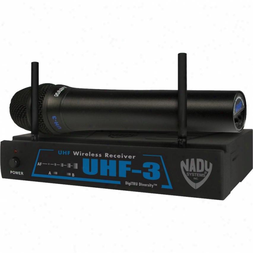 Nady Systems Uhf-3 Ht W/ Mu1 Single-channel Wireless Microphone System
