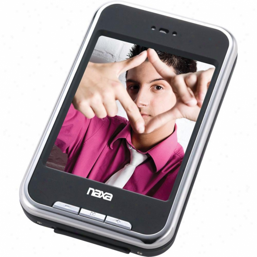 "Naxa Nmv-155 4gbb Portable Media Player With 2.8"" Lcd Touch Screen - Black"