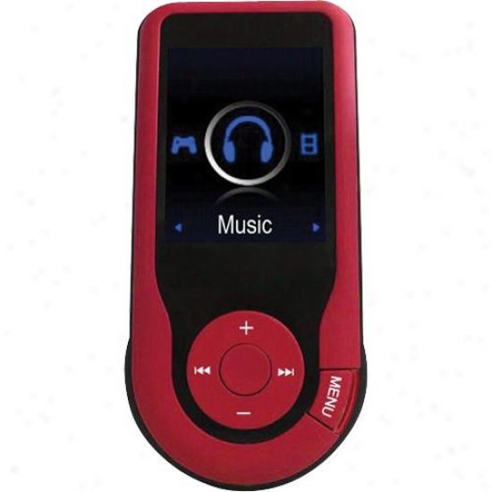 Naxa Nmv-171 4gb Portable Media Player W/ 1.8-inch Lcd Sieve - Red