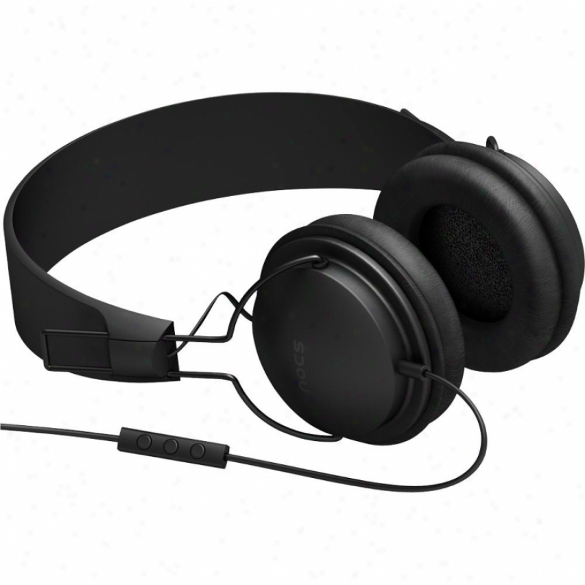 Nocs Ns300 Headphones W/ Remote & Mic - Black