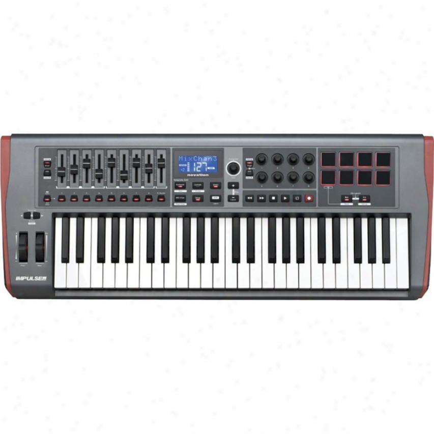 Novation Music Impulse 49 Usb Midi Controller Keyboard
