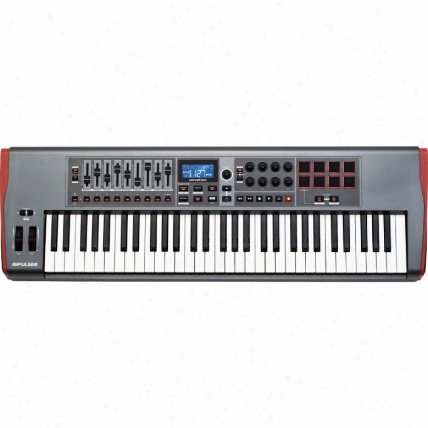 Novation Music Impulse 61 Usb Midi Controller Keyboard