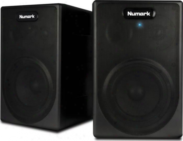 Numark Active Stereo 2-way Speaker System W/built-in Amplifier