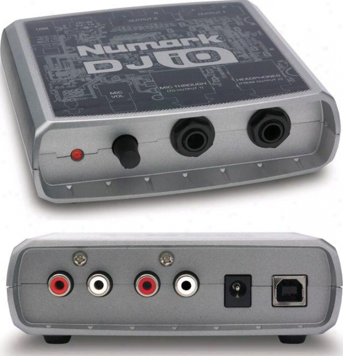 Numark Compact, Portable Usb Audio Interfacce W/software & Usb Cable, Mic Input &