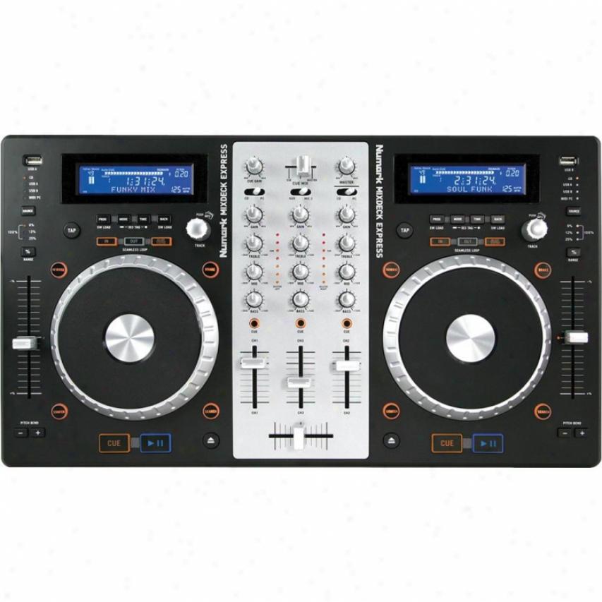 Numark Mixdeck Express Premium Dj Conrroller W/ Cd & Usb Playback