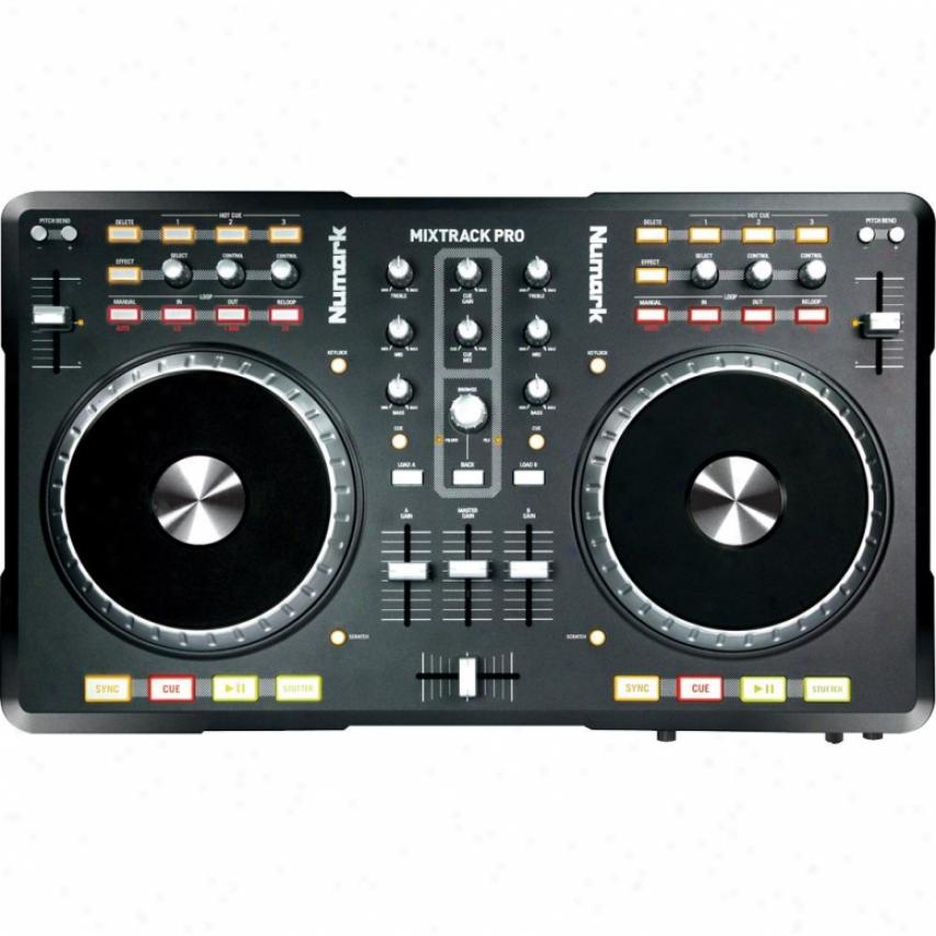 Numark Mixtrack Pro Usb Dj Controller Witb Audio Interface