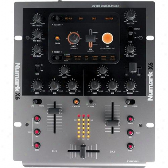 "Numark X6 Two Channel Professional Digital 10"" Mixer"