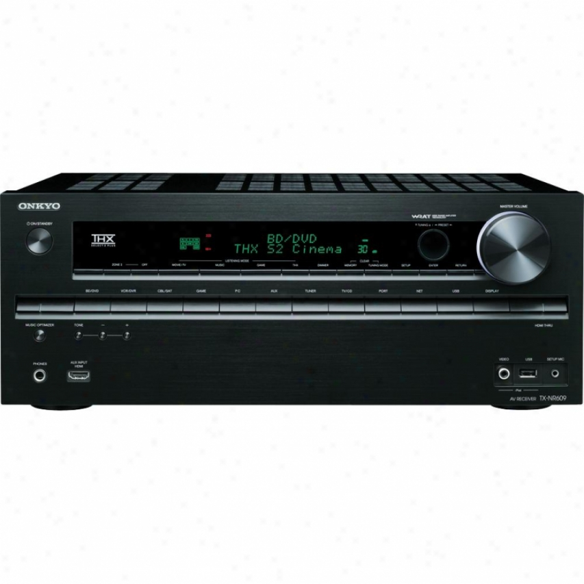 Onkyo 7.2 Channel Home Theater Sound Receiver Tx-nr609