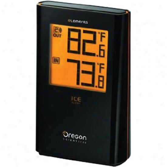 Oregon Scientific Elements Wireless Indoor/outsoor Thermometer W/ Ice Alert