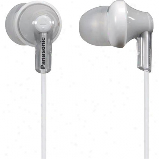 Panasonic Rp-hjc120 Ergofit In-ear Headphones With Remote Control - White