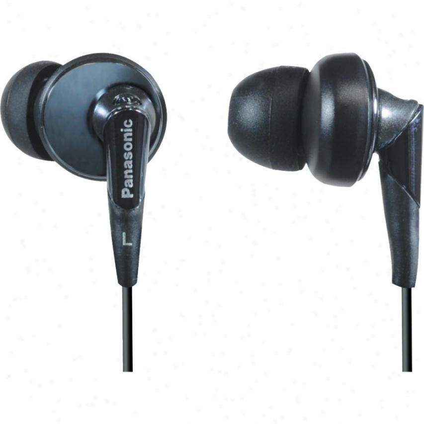 Panasonic Rp-hje450-k Slim Earbud Headphones - Black