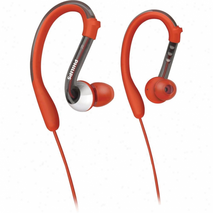 Philips Earhook Headphone Red