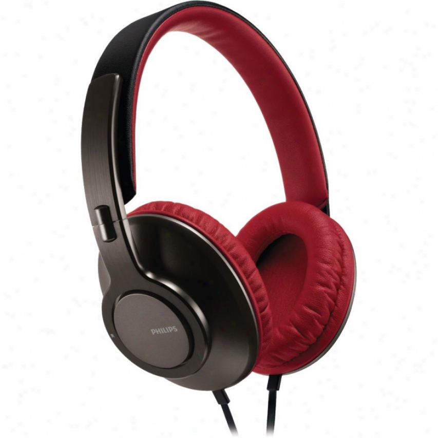 Philips Shl5800 On-ear Headband Headphones - Red & Black