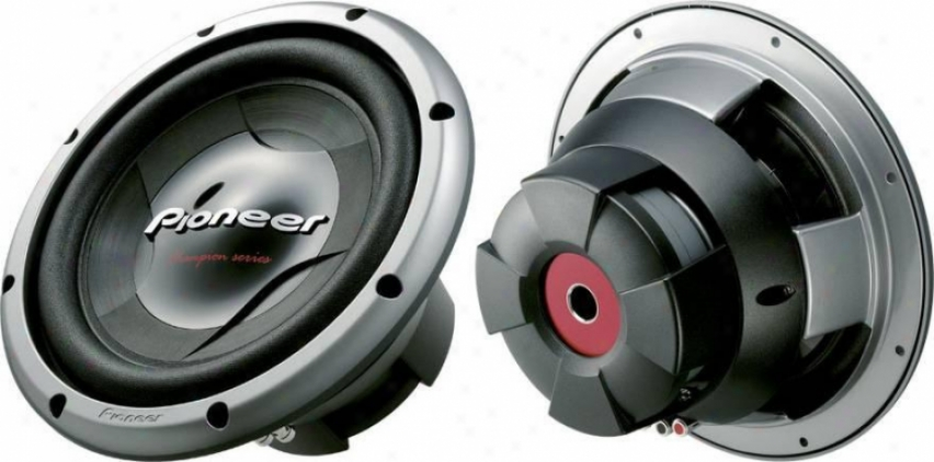 Pioneer 12 Subwoofer W/1400 Watts Mzx W/dual 4 Ohm Voice Coils