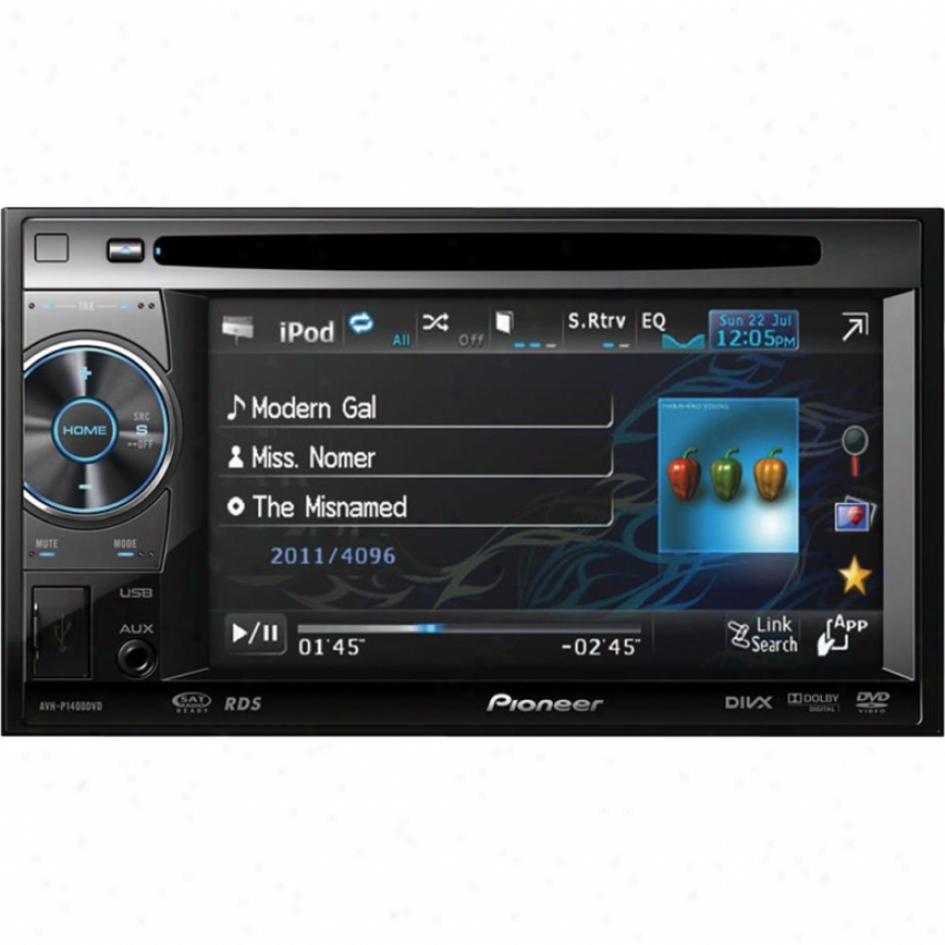 "Pioneer Avh-p1400dvd 2-din 5.8"" Widescreen Touch Display Multimedia Dvd Recriver"