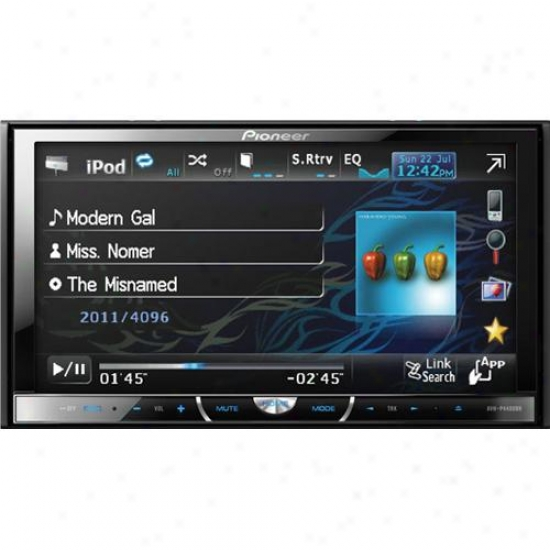 "Pioneer Avh-p4400bh 7"" In-dash Dvd Hd-radio Multimedia Vehicle Player"
