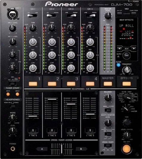 Pioneer Black Pro Dj Mixer W/effect Frequency Filter, 32-ibt Dsp & Digital Outpu
