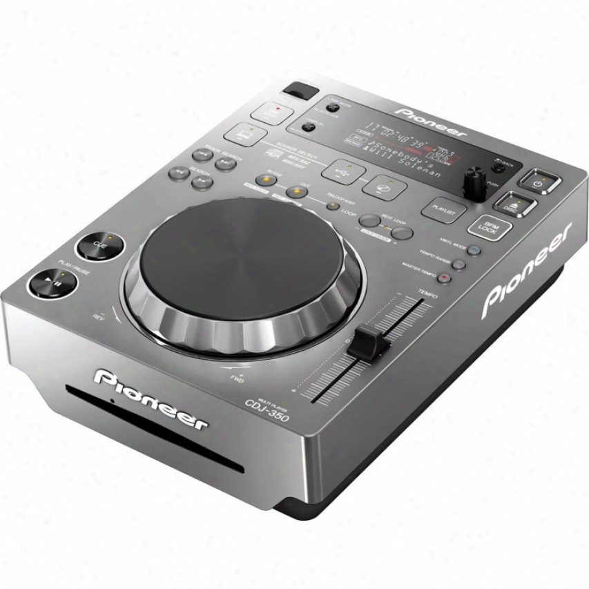 Pioneer Cdj-350 Dj Digital Multi Player - Silver