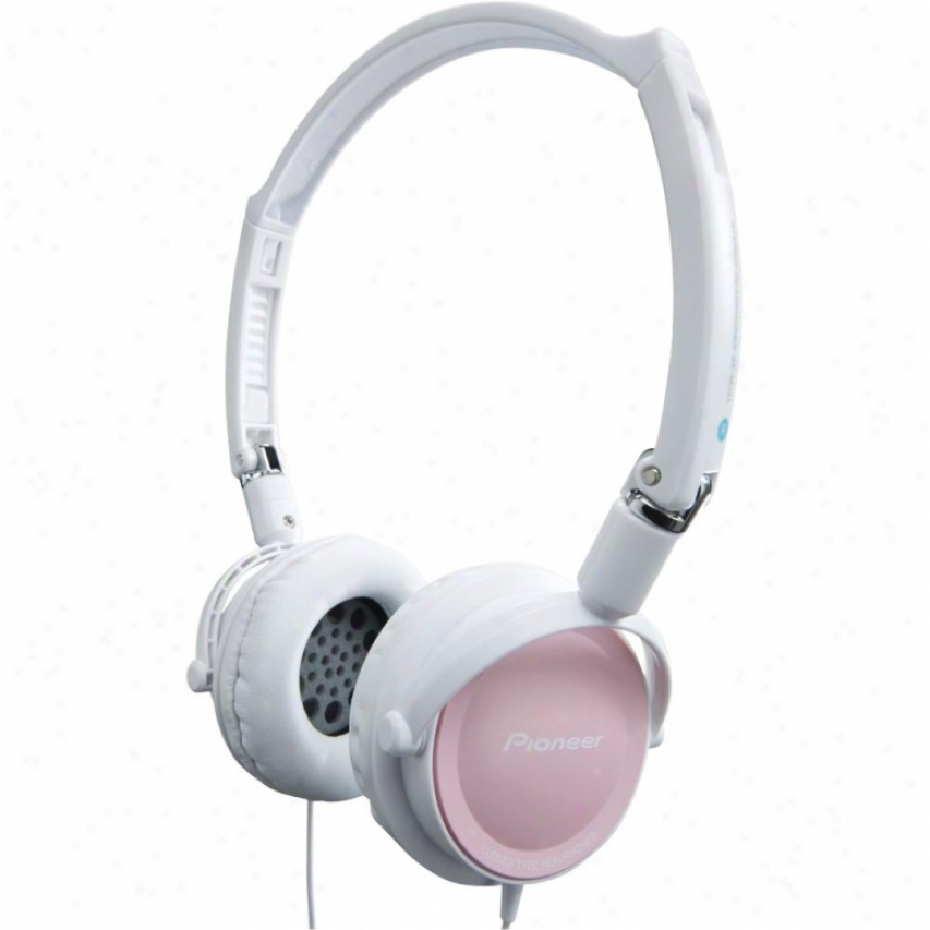 Pioneer Se-mj21 Road Move Foldable Fully-enclosed Dynamic Headphones Pink