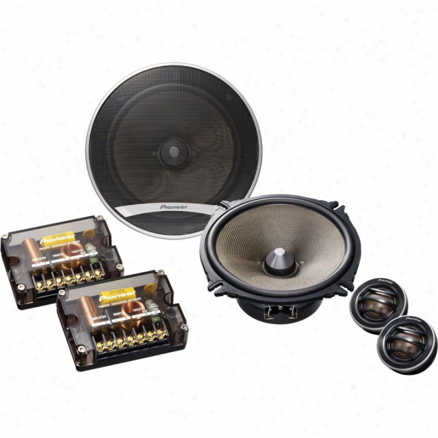 "Pioneer Ts-d1720c 6?"" 2-way Component Car Speaker Bundle"