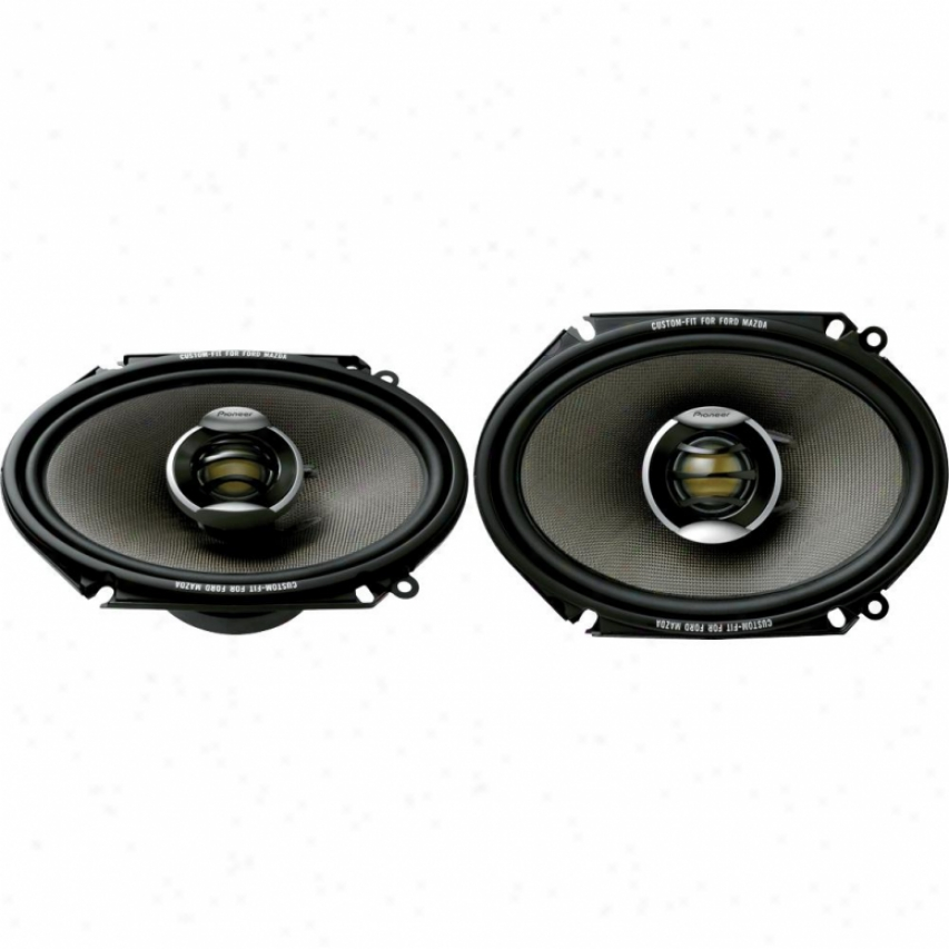 "Pioneer Ts-d6802r 6"" X 8"" 2-way Car Speakers"