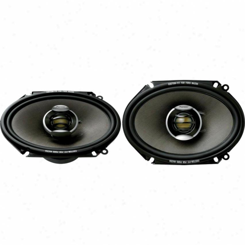 """Pioneer Ts-d6802r 6"""" X 8"""" 2-way Car Speakers"""