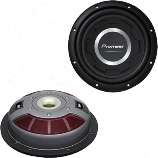"""Pioneer Ts-w3001s2 12"""" Shallow Mount Subwoofer For Car Stereo"""