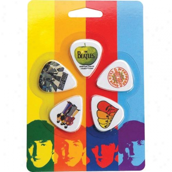 Planst Waves 1cwh1-10b3 10-pack Beatles Albums Picks - Thin