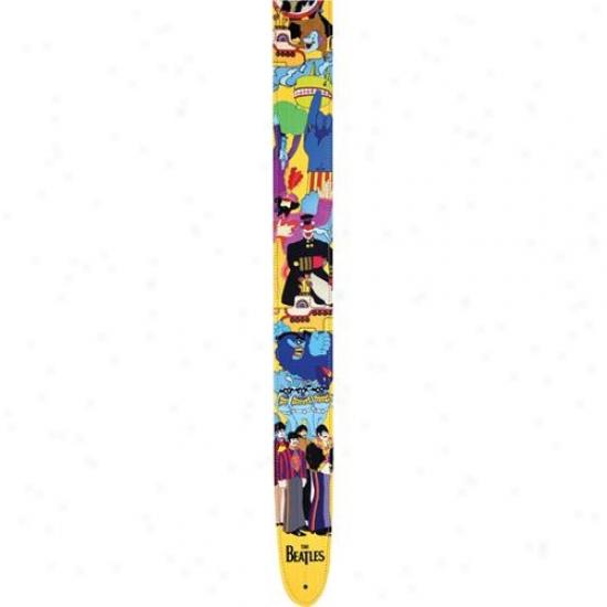 "Planet Wabes 25lb06 2.5"" Yellow Submarine Guitar Strap"