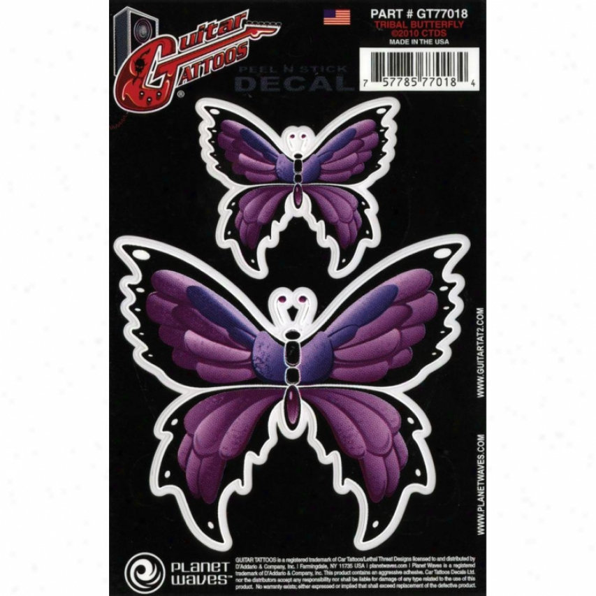 Planet Wave Tribal Butterfly - Guitar Tattoo - Gt77018