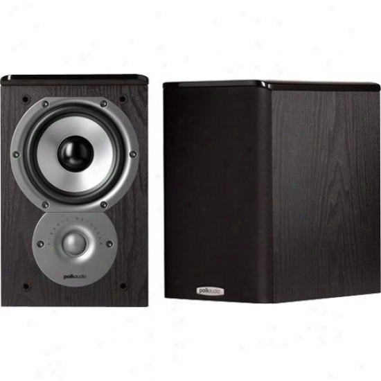 Polk Audio Am3202-a Tsi 100 Black Bookshelf Speaker - (priced Per Pair)