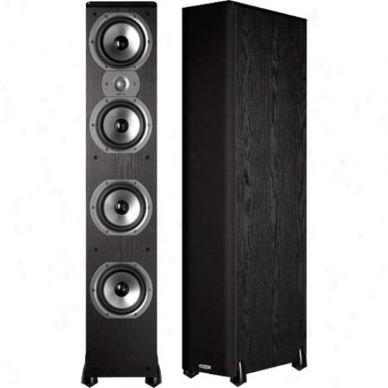 Polk Audio Ak7205-a Tsi 500 Single Floorstanding Speaker - Black