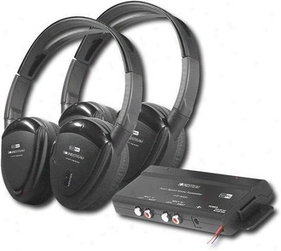 Power Acoustik - 900mhz Wireless Rf Headphones