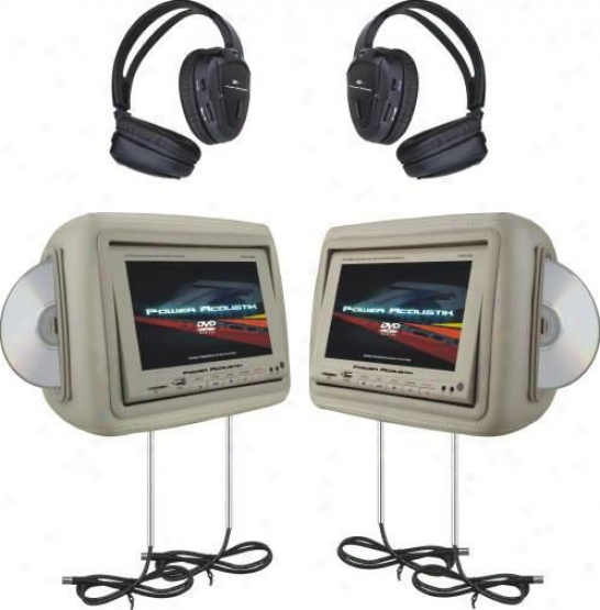 Power Acoustik Hdvd-9bg Car Video Player System - Beige