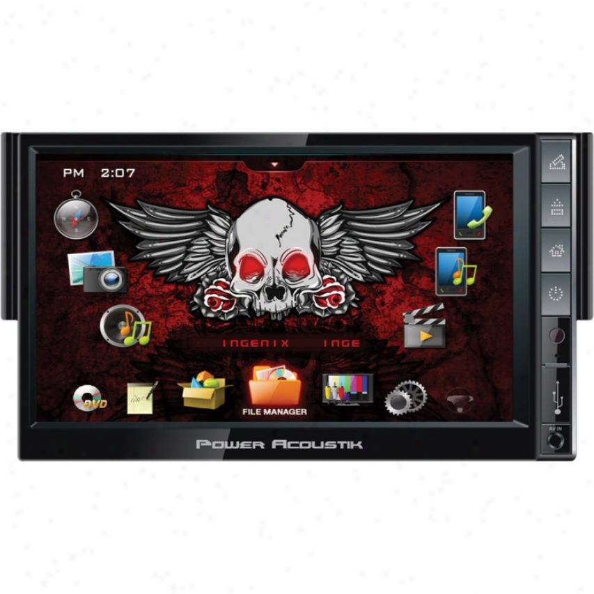 Power Acoustik Pa 7&quot; Ingenix Avn Det. Nav Dtv Bt Usb