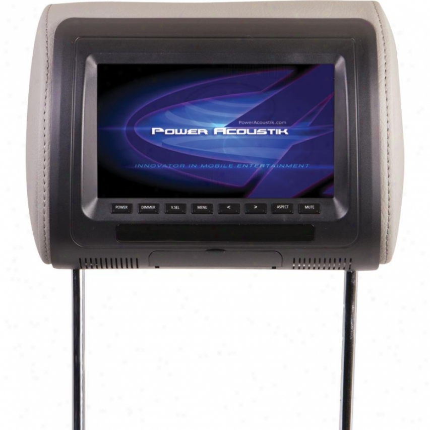 "Power Acoustik Pa 7"" Total Replacement Headrest Mon"