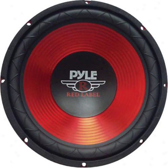 Pyle 10-inch 600-watt Car Subwoofer - Red - Plw10