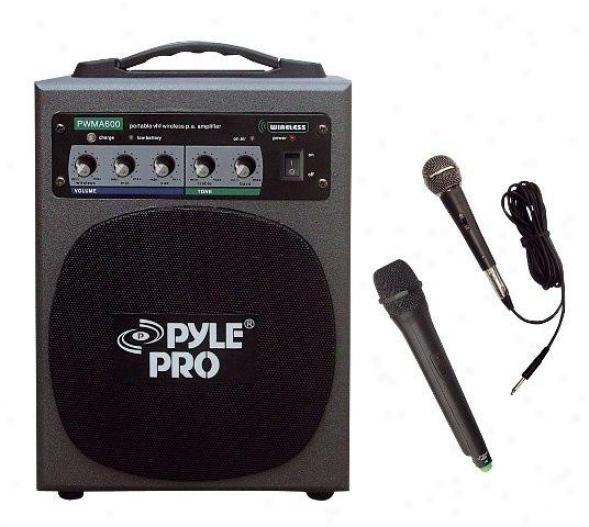 Pyle 100 Watt Wireless Battery Powered Pa System