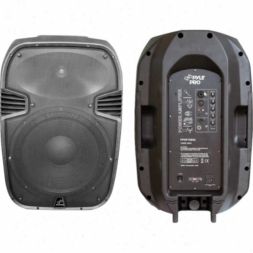 "Pyle 1000-watt 15"" Powered 2-way Plastic Molced Speaker A whole"