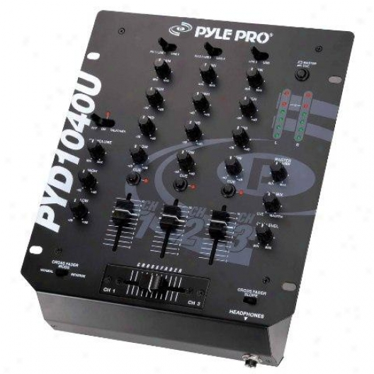 Pyle 10'' 3-channel Professional Mixer With Usb