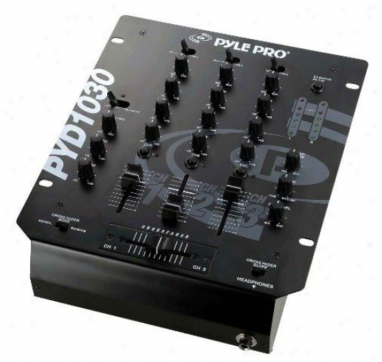 Pyle 10'' 3-channsl Professional Mixer