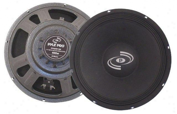 Pyle 10'' 400 Watt Professional Neodymium 8 Ohm Replacement Subwoofer