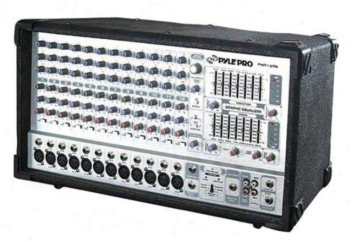 Pyle 12 Channel 1000 Watts Powred Mixer Pmx1206