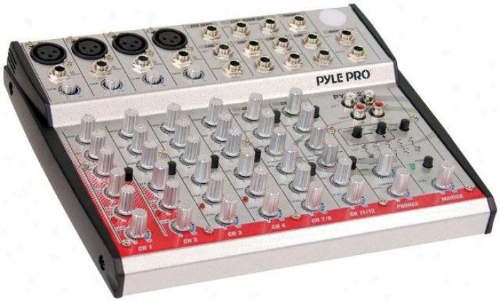 Pyle 12-channel 2-bus Console Mixer