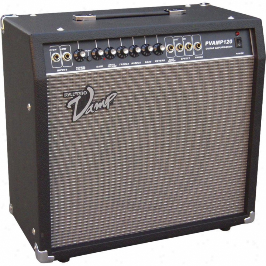 Pyle 120 Watt Vamp-series Amplifier With 3-nand Eq, Overdrive, And Effects Loop