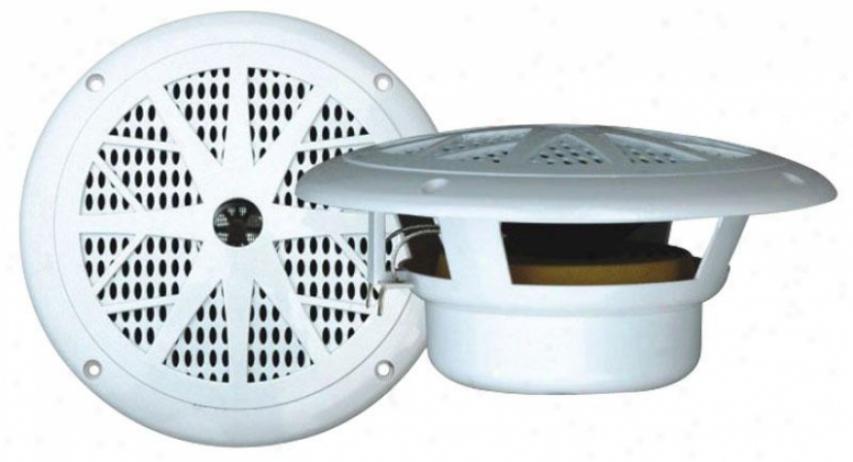 Pyle 120 Watts 6.5'' Djal Cone White Marine Speakers