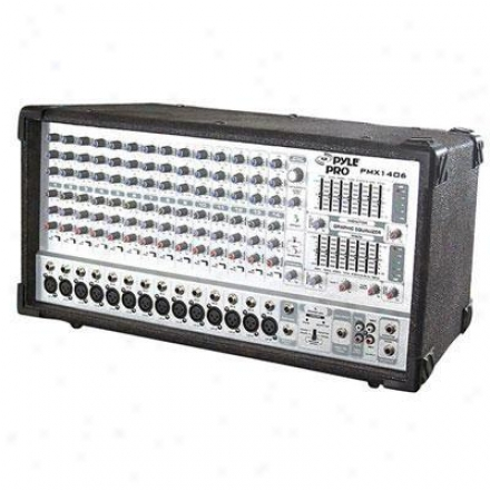 Pyle1 4 Channel 1200 Watts Digital Powered Mixer W/dsp