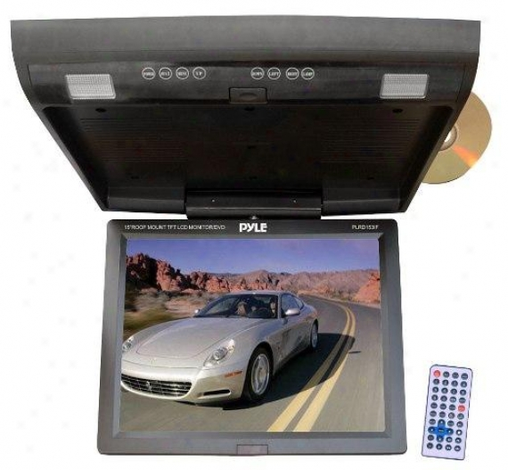 Pyle 15.1-inch Flip Down Monitor With Built-in Dvd/sd/usb Player - Plrd53if