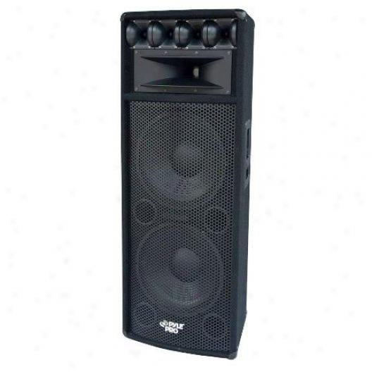 Pyle 1600w Heavy Duty 2 Way Pa Loud-speaker Cabinet